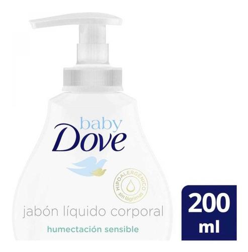 Dove Baby Jabon Liquido Humectacion Sensible  X 200ml