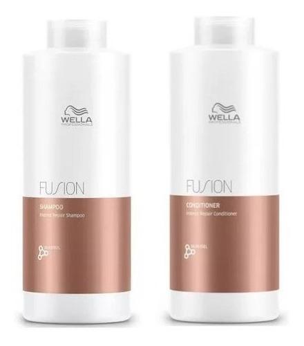 Lançamento - Wella Kit Fusion Shampoo + Condicionador Litro