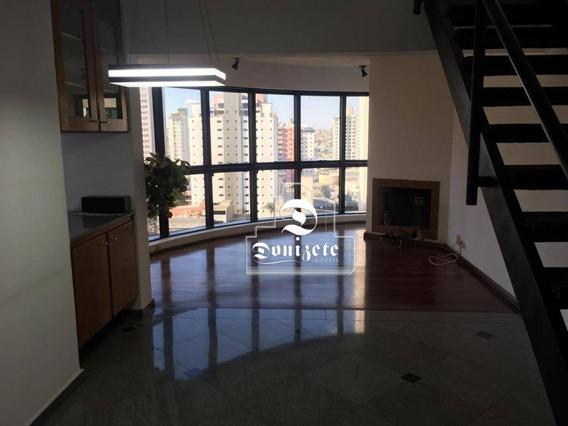 Apartamento Duplex Com 1 Dormitório À Venda, 97 M² Por R$ 500.000,00 - Jardim - Santo André/sp - Ad0075