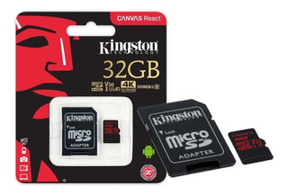 Cartao De Memoria Classe 10 Kingston Sdcr 32gb Micro Sdhc 32
