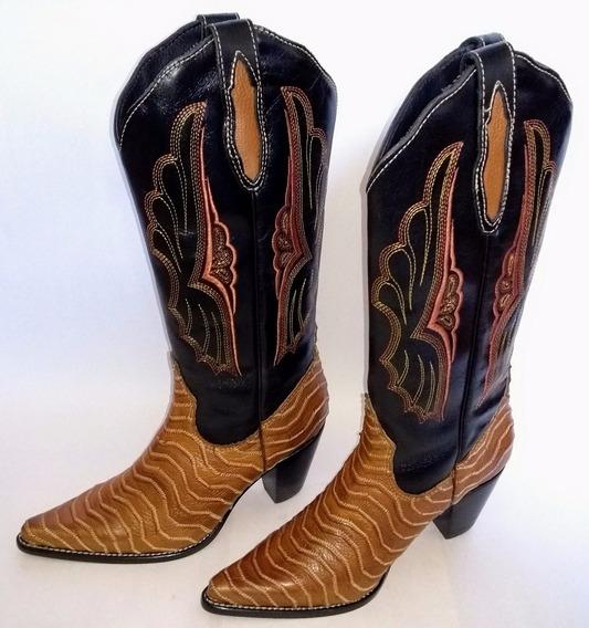 Bota Country Feminina Texana Lady Silver 100% Couro - 35
