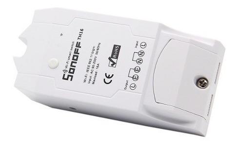 Relé Wifi Interruptor Inteligente Sonoff Th16