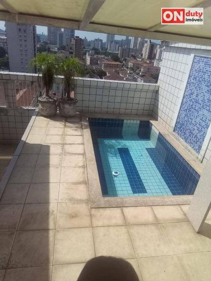 Cobertura Com 3 Dormitórios À Venda, 201 M² Por R$ 890.000 - Aparecida - Santos/sp - Co0160