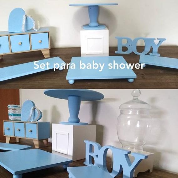 Alquiler Baby Shower Piezas Alzadas De Candy Bar Mesa Dulce Posa Tortas