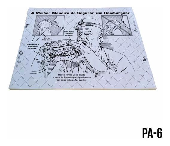 Papel Manteiga Seda N Acoplado Segurar Hambúrguer Cx 500un