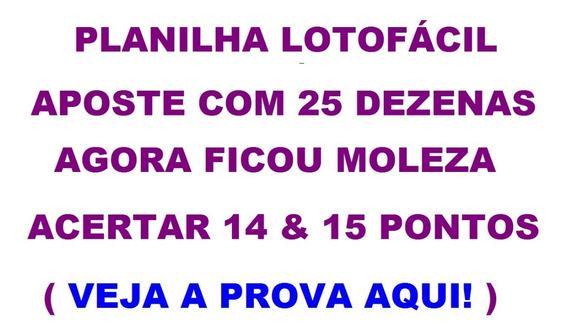 Lotofácil 25 Dezenas Veja A Moleza De Acertar 14 E 15 Pontos