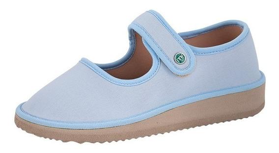 Sapato Boneca Para Esporão E Fascite Mundoflex - Azul Bebe
