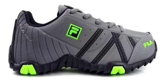 Zapatillas Fila Slant Force Gris Negro Verde Niño