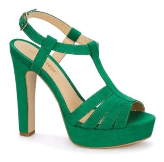 Sandalia Sling Back Mujer Verde 2659381 Andrea