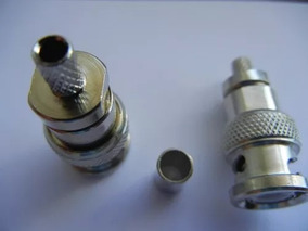 Kit 25 Bnc Macho De Climpar Cabo 0,4x2,5mm