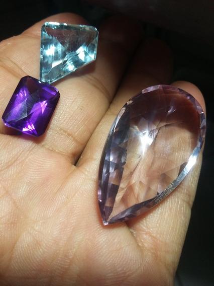 Topázio E Amentista.gemas Naturais,97cts Promoção