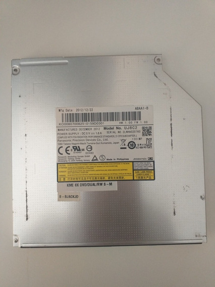 Gravador De Dvd Sata Modelo Uj8c2 - Notebook