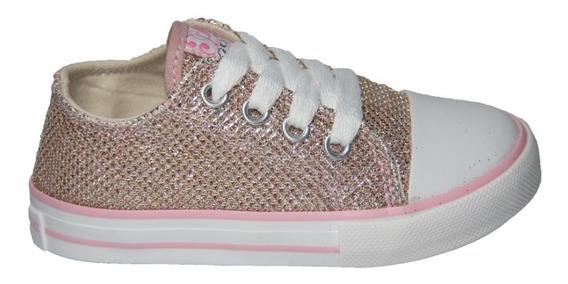 Zapatilla Infantil Couce Rosa Glitter