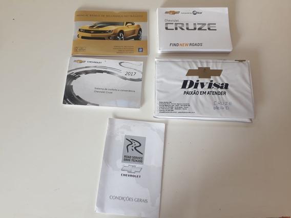 Manual Do Proprietário Gm Chevrolet Cruze 2017 Orig. Lindo