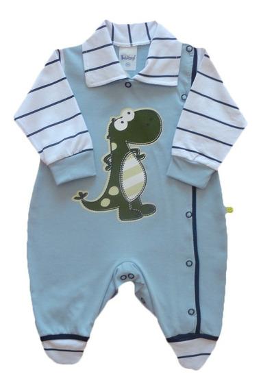 Macacão Bebê Menino Masculino Abertura Lateral 100% Algodão