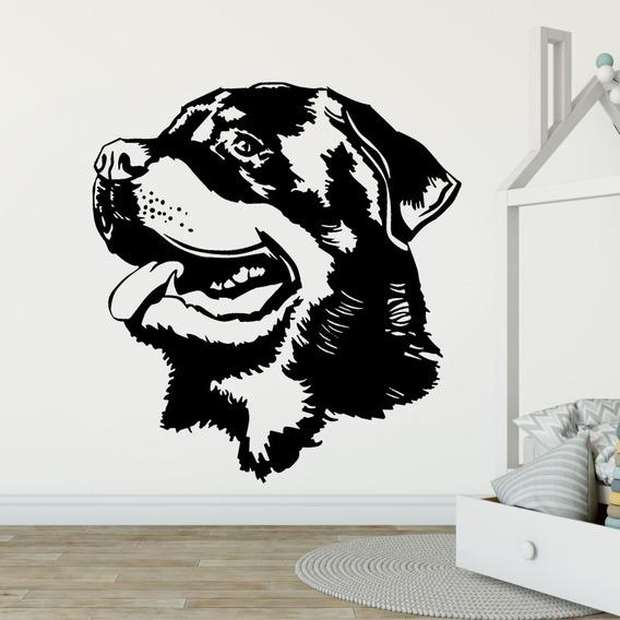 Adesivo De Parede - Rottweiler Amigo Cachorro Dog Cão Pet