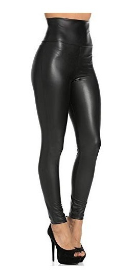Teemzone Leggings De Cuero Sintetico Pantalones Para Mujer L