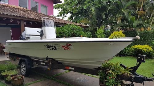 Lancha Cabrasmar Marimbá 18' - 5,45m - Tipo Ub Fishing Pesca