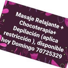 Masajes Integrales, Hoy Domingo Disponible!