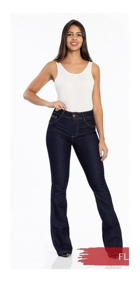 Calça Flare Feminina Jeans Biotipo Cintura Media