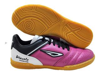Tênis Futsal Diavolo Phantom Sola Borracha Costurada