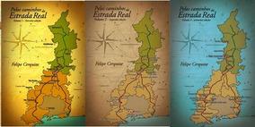 Livro Pelos Caminhos Da Estrada Real - Volumes 1, 2, 3