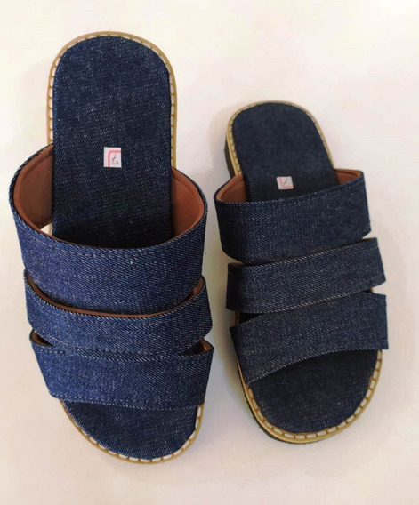 Chinelo Jeans Solado Baixo
