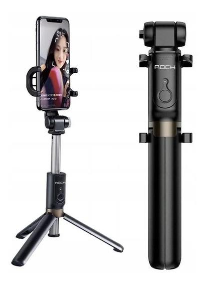 Bastão Selfie Tripé Bluetooth Com Controle Rock Space