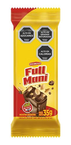 Imagen 1 de 1 de Tableta Chocolate Full Maní 15 Unidades