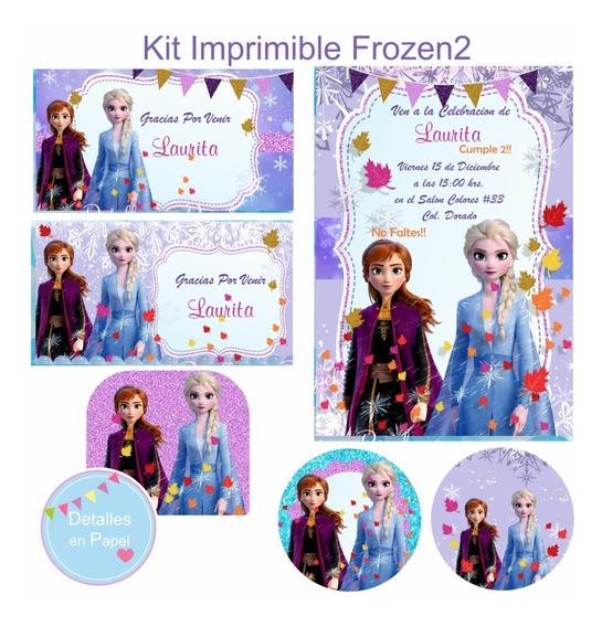Kit Imprimible Frozen2 Modelo2