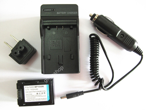 Imagen 1 de 5 de Ia-bp105r Batería + Cargador Para Samsung Hmx-f80 Hmx-f80bn/