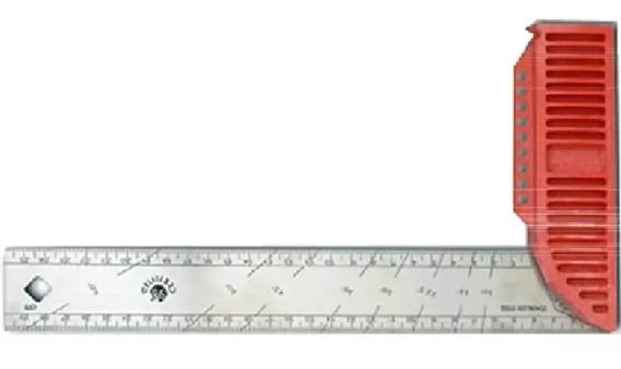 Esquadro 30cm Aco Inox Cb Polimero - Kapro