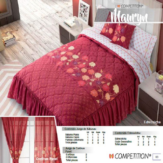 Edrecolcha King Size + 3 Cojines Decorati Mauryn Competition