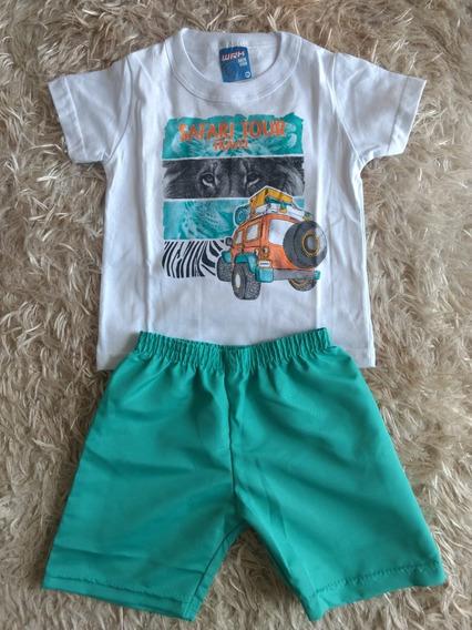 Kit Lote 3 Conjuntos Infantil Masculino Roupa Menino Verão
