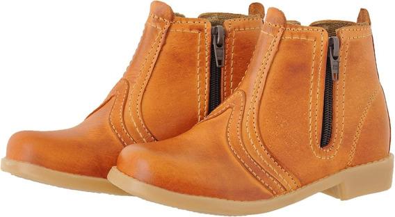 Bota Botina Country Infantil 100% Couro Pessoni Boots