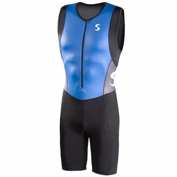 Chaleco Synergy Triathlon Trisuit Neogel Azul Negro Medium