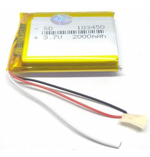 Bateria 103450 3.7v 2000mah 3 Cables 50x34x10mm