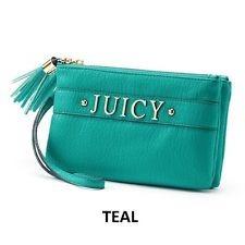 Juicy Couture Clutch Bolsa Wristlet Aqua