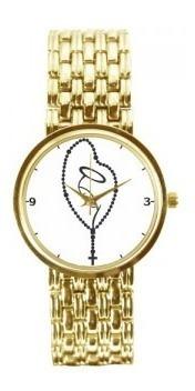 Relógio Feminino Dourado Terço 3330