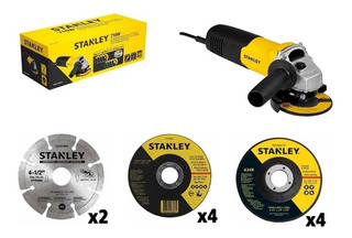 Amoladora Angular Stanley Stgs7115k10 710w 10 Discos Cuotas