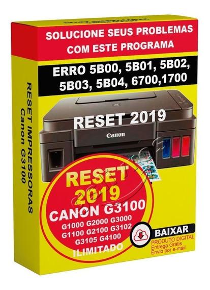 Reset Canon G1000 G2000 G3000 G1100 G2100 G3100 G3102 G3105r