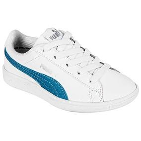 Puma Vikky Glitz Ac Ps 366719-01 Blanco Azul Niño Pv