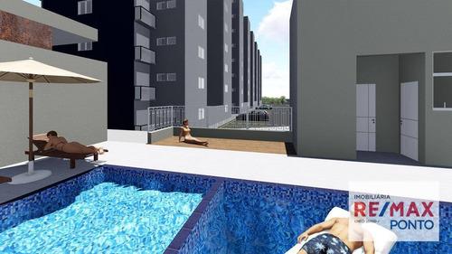 Apartamento Com 2 Dormitórios À Venda, 59 M² Por R$ 200.000,00 - Pires - Itapira/sp - Ap0022