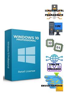 Licencia Windows 10 Pro Original 3pc