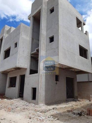 Sobrado Com 3 Dormitórios À Venda, 110 M² Por R$ 610.000,00 - Portão - Curitiba/pr - So0335