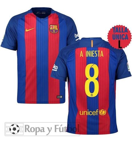 Camiseta Nike Fc Barcelona 2016/17 A.iniesta - 100% Original
