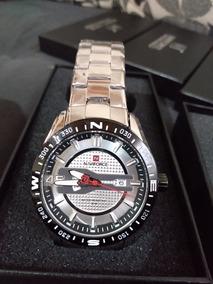 Relógio Naviforce Nf9157 Prata Lindo Promoção Última Unidade