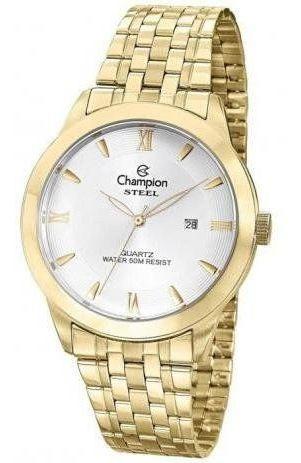 Relógio Champion Masculino Social Dourado