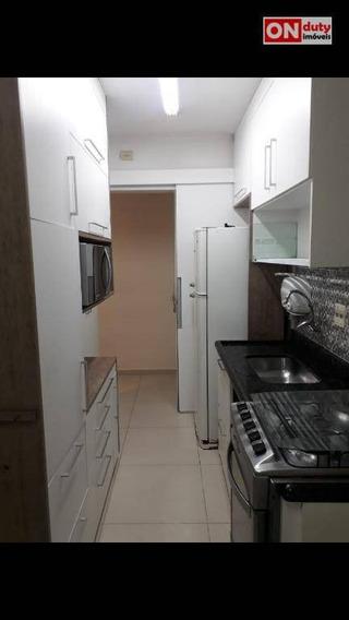 Apartamento Com 2 Dormitórios Para Alugar, 54 M² Por R$ 1.500/mês - Marapé - Santos/sp - Ap5191