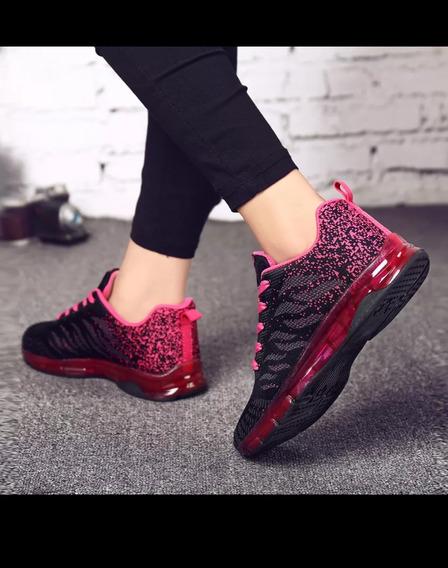 Tênis Feminino Quente Almofada De Ar Sapatos Respirável